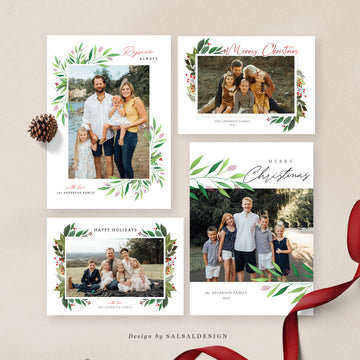 Christmas 5x7 Photo Cards Bundle | Joy Memories