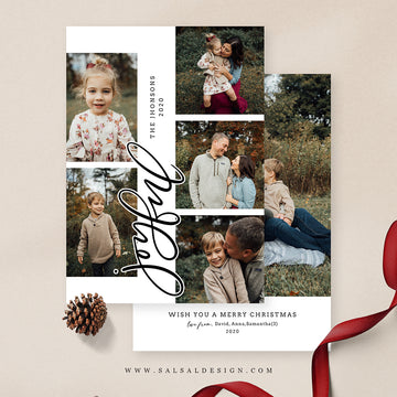 Christmas 5x7 Photo Card | Joyful portrait