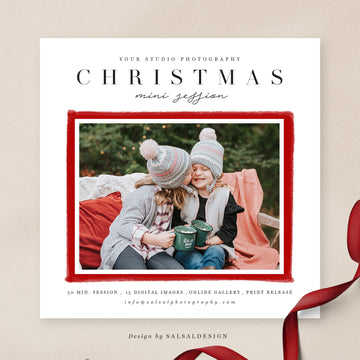 Christmas Minis Session Template | Merry Kisses