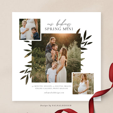 Spring Minis Session Template | Spring kisses
