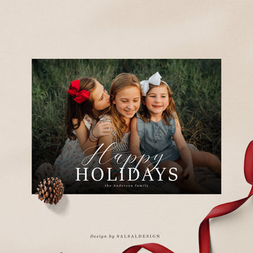 Christmas 5x7 Photo Card | Overlay Style