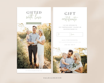 Photography Gift Certificate - Sweet family