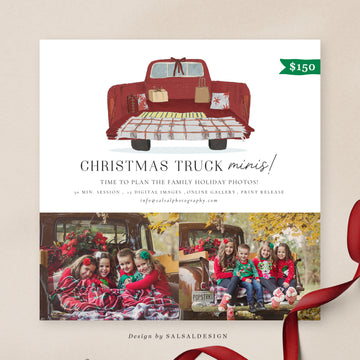 Christmas Minis Session Template | Xmas Truck 2