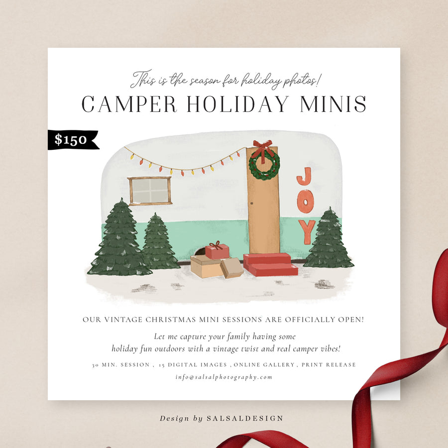 Christmas Minis Session Template | Camper Christmas 2