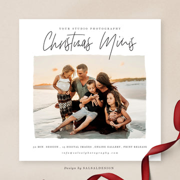 Christmas Minis Session Template | Beach Christmas