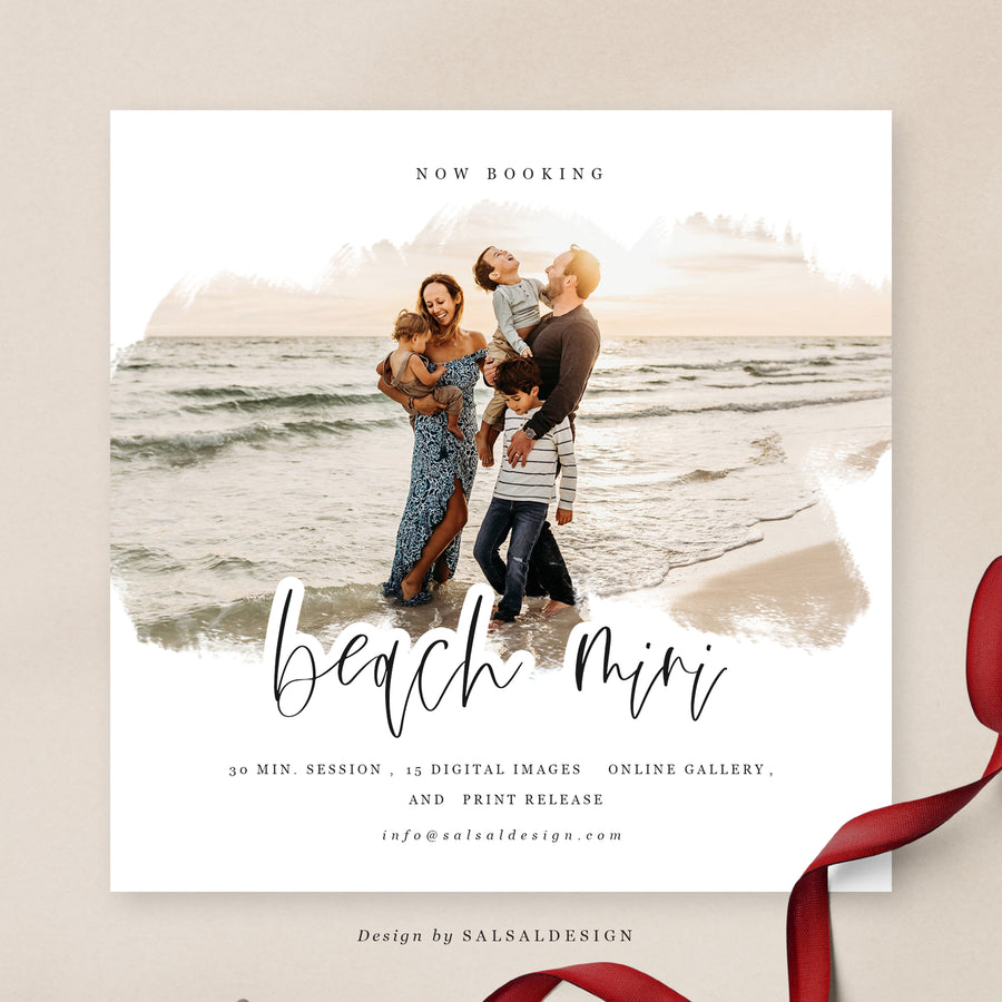 Minis Session Template | Beach Minis 2