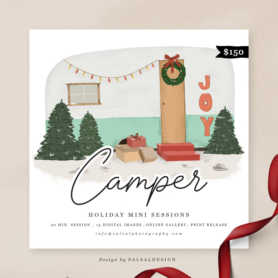 Christmas Minis Session Template | Camper Christmas