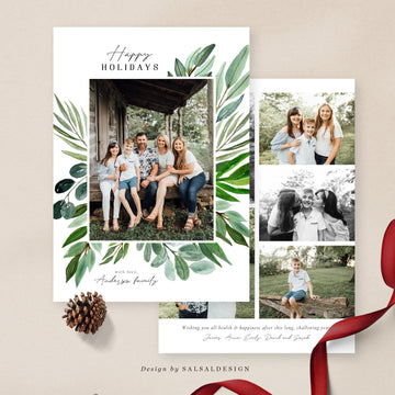 Christmas 5x7 Photo Card | Tropical Christmas