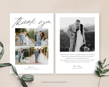 Wedding Thank You Card Template | Country Life