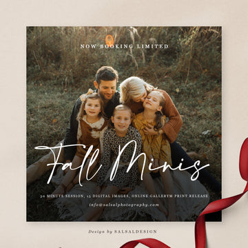 Fall Minis Session Template | Fall Hugs