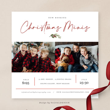 Christmas Minis Session Template | Booking Xmas