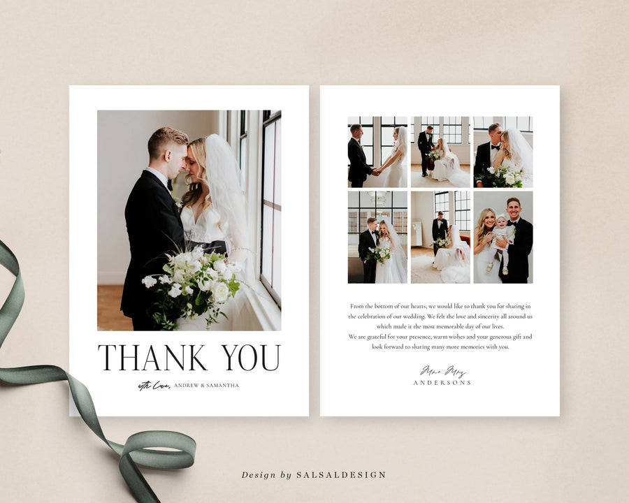 Wedding Thank You Card Template | Love door