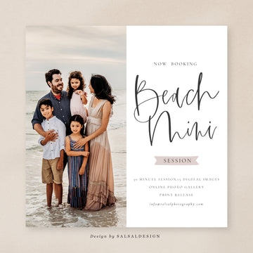 Minis Session Template | Beach Minis