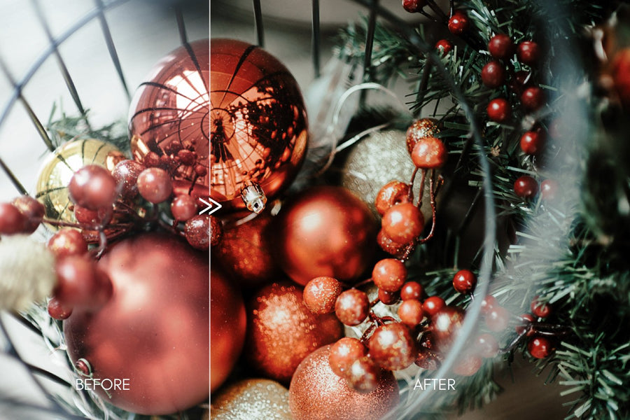 Rich Vibrant HOLLY Holiday Lightroom Presets Pack for Desktop and Mobile