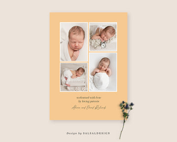Birth Announcement Card - Apples