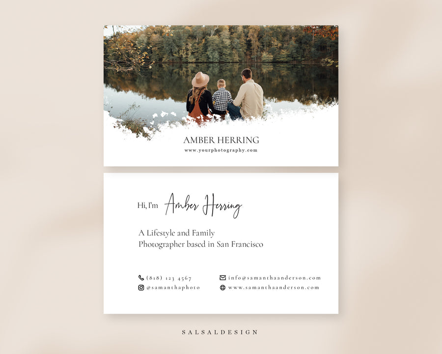 Photography Business Card Template - Amber