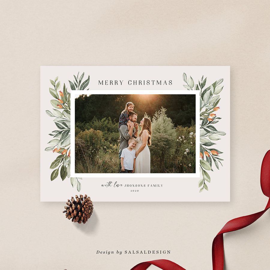 Christmas 5x7 Photo Card | Terra Holidays