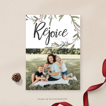 Christmas 5x7 Photo Card | Simple Rejoice