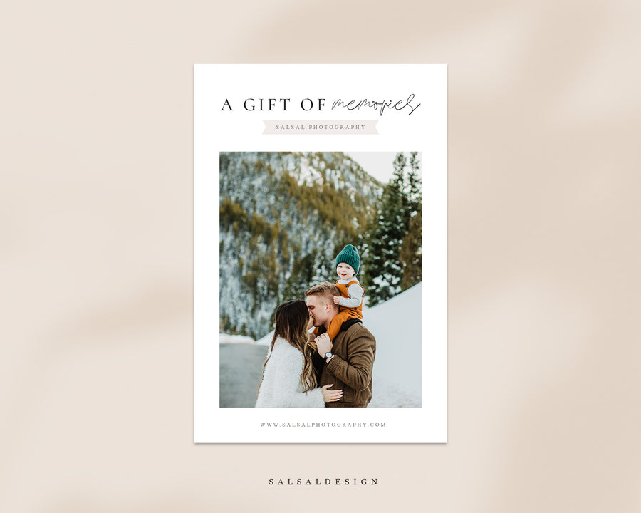 Photography Gift Certificate - Memories