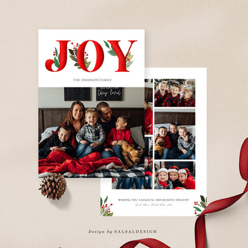 Christmas 5x7 Photo Card | Biggest Joy