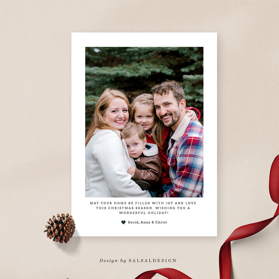 Christmas 5x7 Photo Card | Christmas notes