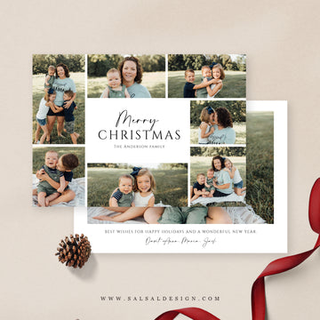 Christmas 5x7 Photo Card | Family grid