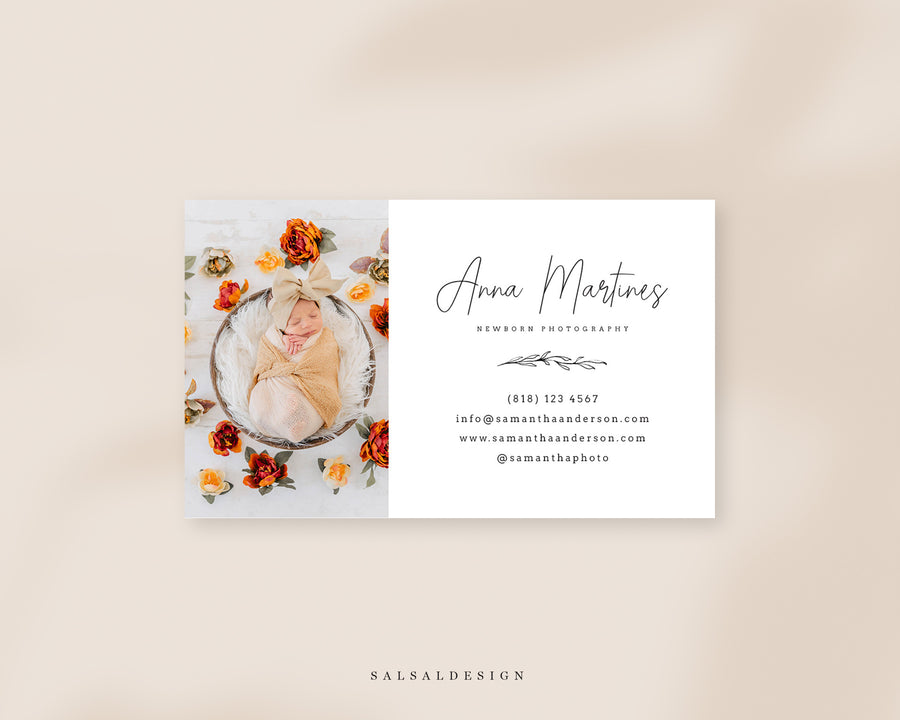 Photography Business Card Template - Anna