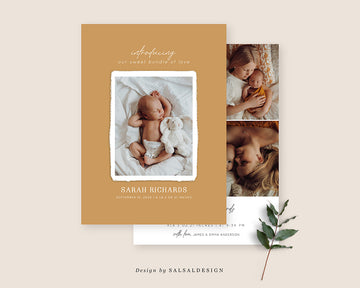 Birth Announcement Card - New Baby