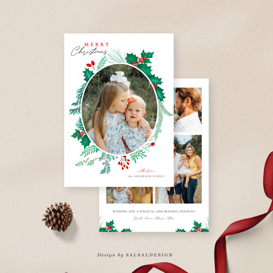 Christmas 5x7 Photo Card | Holiday Crown