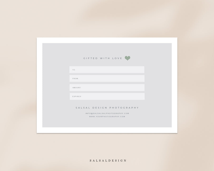 Photographer Gift Certificate - Springtime