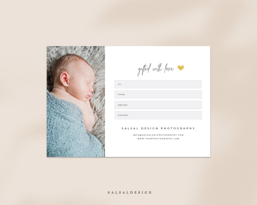 Photographer Gift Certificate - Family Gifts