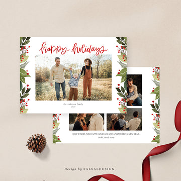 Christmas 5x7 Photo Card | Three Birds