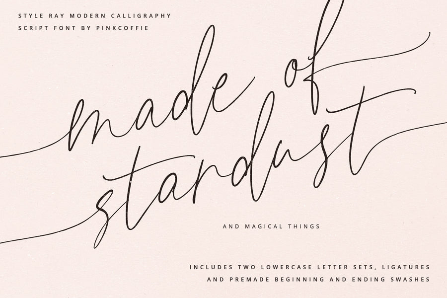 Style Ray Modern Calligraphy Script Font