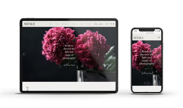 Avenue - Customizable Showit Website template