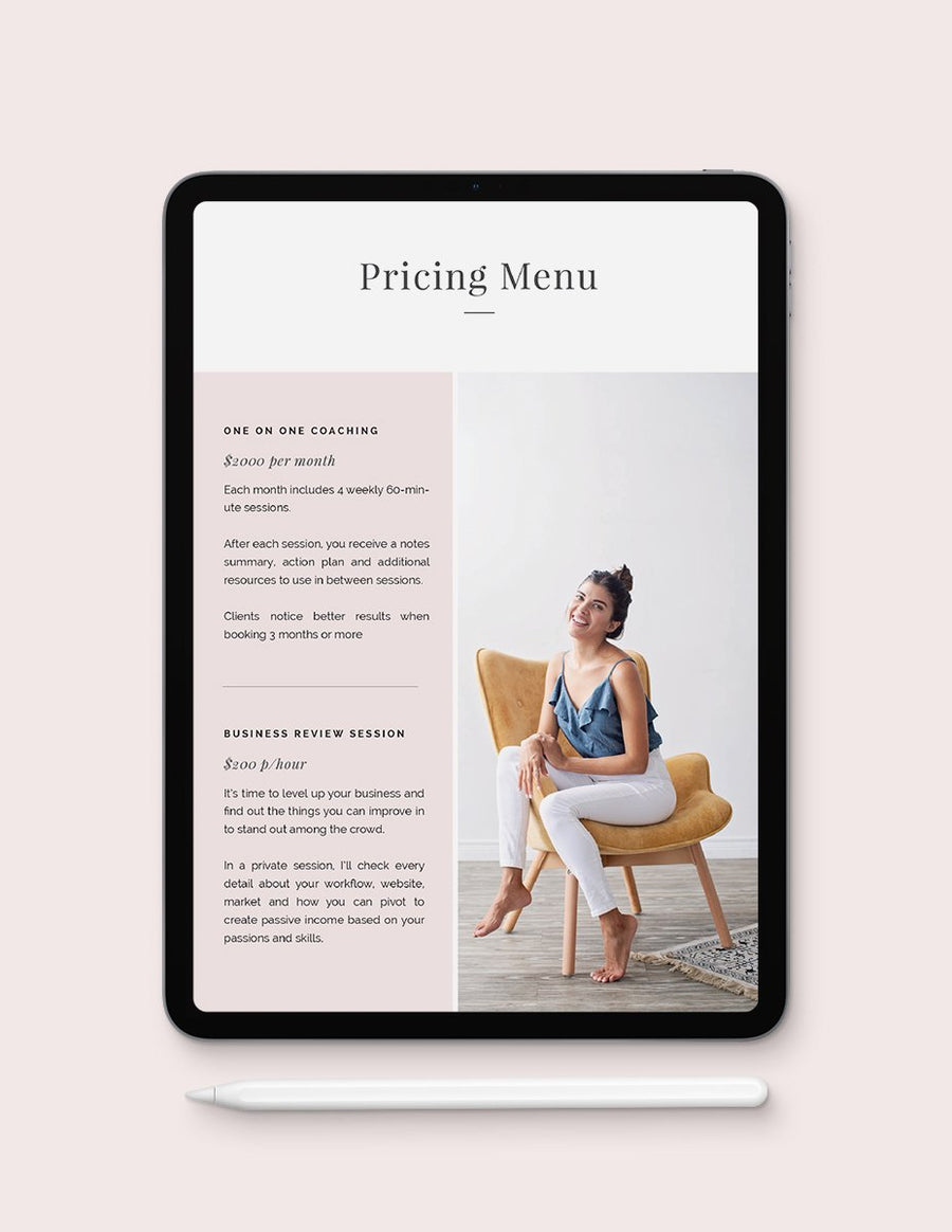 Services & Pricing Guide Template