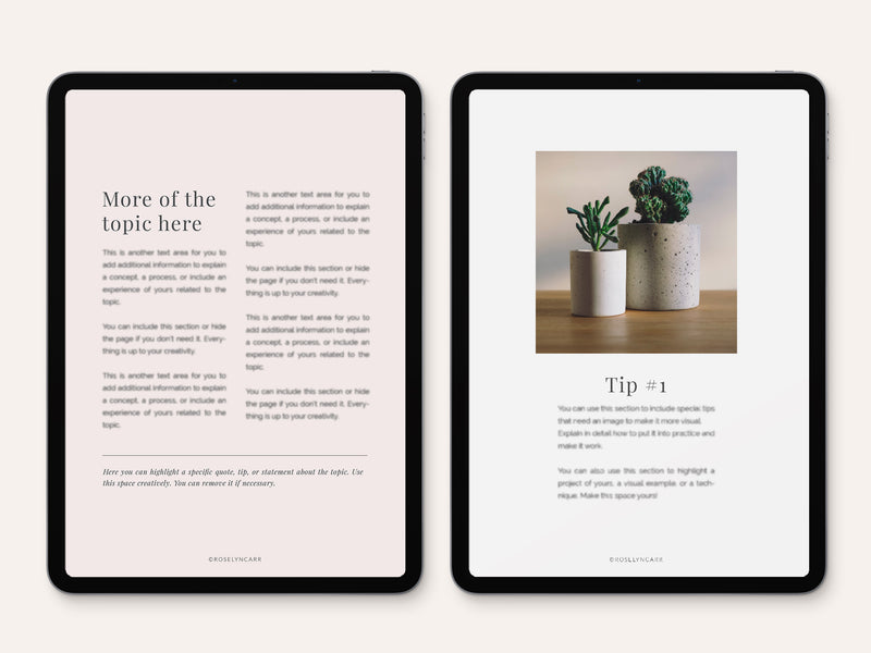 PDF Tutorial & How to Guide Template