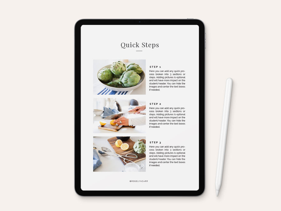 Step by Step Tutorial Template