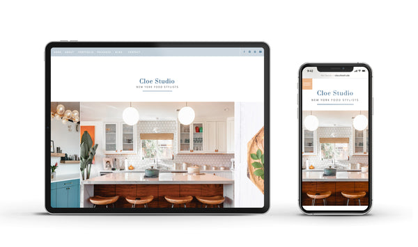 Cloe - Customizable Showit Website template