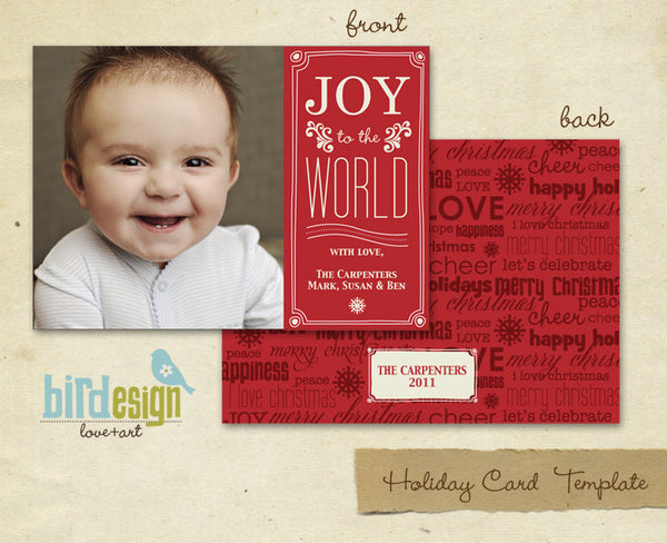 Holiday Photocard Template | Baby Joy