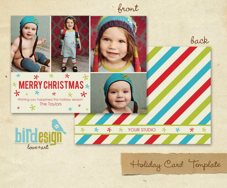 Holiday Photocard Template | Be merry