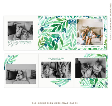 Holiday Accordion Card 5x5 (Trifolded) | Florabella