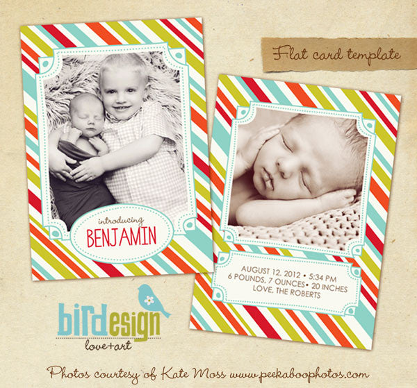Birth Announcement | Fun & Stripes