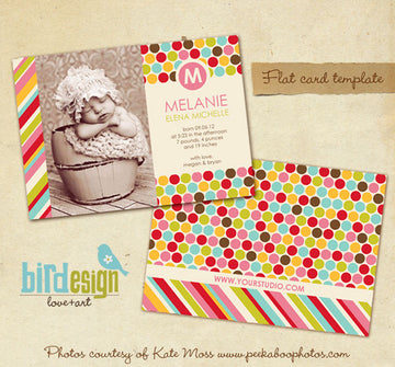 Birth Announcement | Colorful Dots