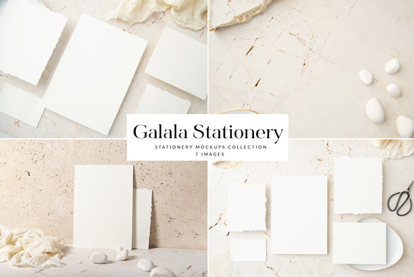 Galala Stationery Mockups Collection | 7 Stock Images
