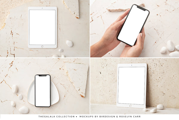 Galala Ipad & Iphone Mockups Collection | 12 Stock Images