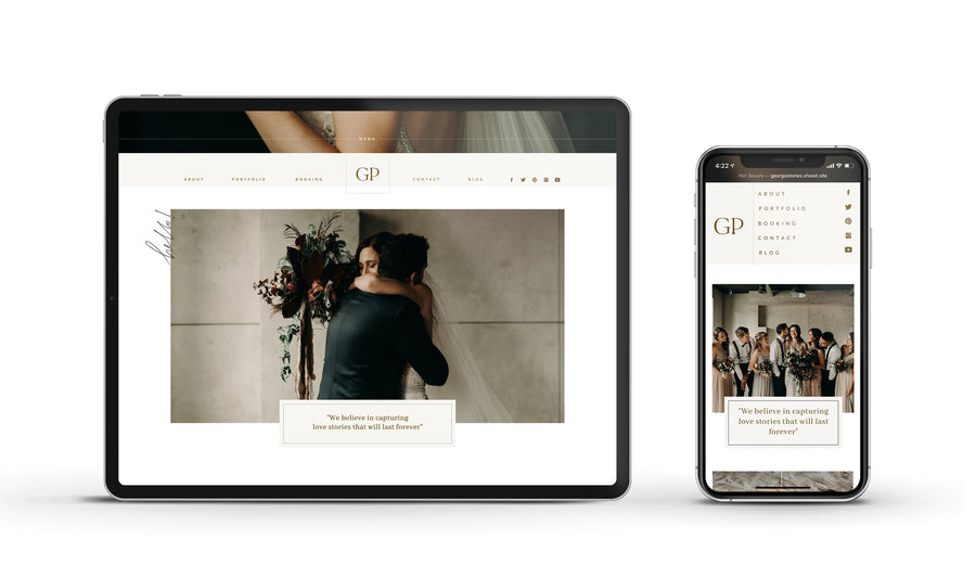 Showit Website template - Georgia Stories