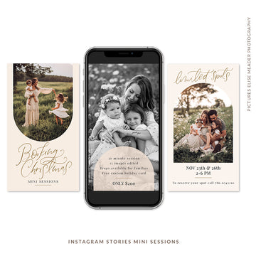 Instagram Stories Mini Sessions | Boho Christmas