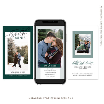 Instagram Stories Mini Sessions Christmas | Winter Minis