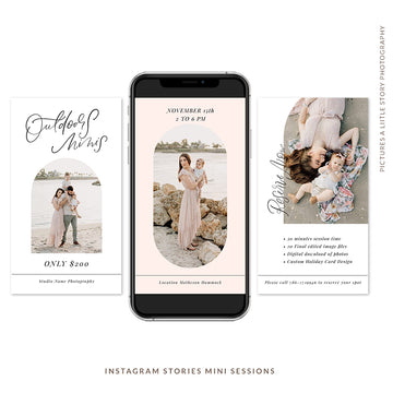Instagram Stories Mini Sessions  | Outdoor Minis