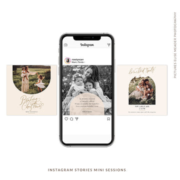 Instagram Posts Mini Sessions | Boho Christmas